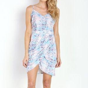 Lovers + Friends Python Snake Print Dress L nwt